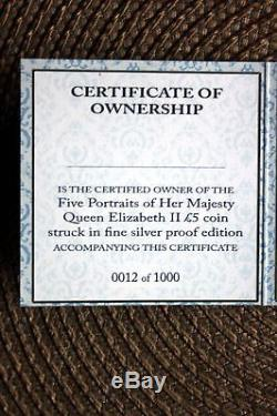 2015 Queen Elizabeth II 5 ounce silver PCGS PR70 12th MINTED