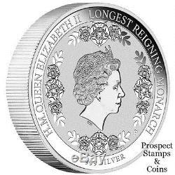 2015 Queen Elizabeth II Longest Reigning Monarch 1oz Silver Proof Coin