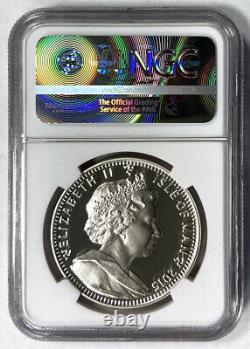 2015 Silver Is. Of Man Crown Queen Elizabeth II Box Coa Ngc Pf 70 Ultra Cameo