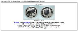 2016 AUSTRALIA UK Queen Elizabeth II KOALAS Genuine Antique Silver $ Coin i76483