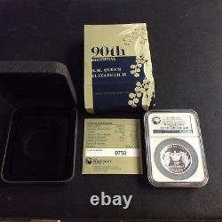 2016 Australia Queen Elizabeth II 90th Birthday 1oz Silver High Relief Coin PF70