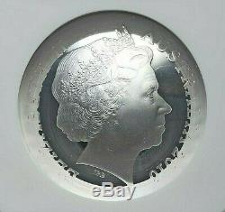 2016 Australia Queen Elizabeth Silver 5 Dollars Ngc Pf-69 Ultra Cameo L@@k