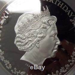 2016 Cook Islands $20 Silver Queen Elizabeth II 90th Birthday 3 Oz. PCGS PR69