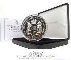 2016 Fine Silver proof 5oz £5 Coin Queen Elizabeth II 90th Box COA Ref 12