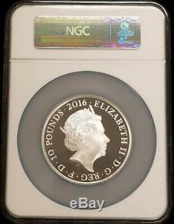 2016 Great Britain Queen Elizabeth II 90th Birthday 5 oz Silver Coin NGC PF70 UC