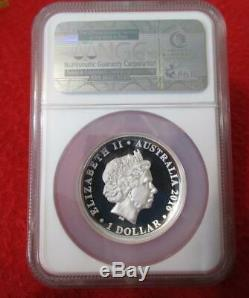 2016 P Australia Silver $1 HM Queen Elizabeth II 90th BD HR NGC PF 70 UC
