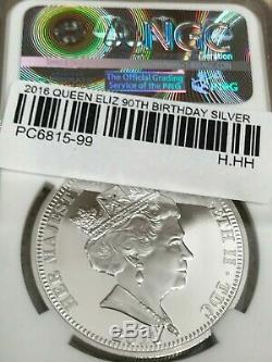 2016 Queen Elizabeth II 90th Birthday 5oz Silver NGC PF70 1st 500 + 1oz BONUS