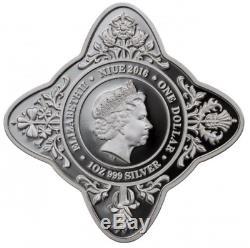 2016 Royal Star Queen Elizabeth II 90th Birthday 1 oz Silver Proof Coin