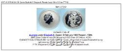 2017 AUSTRALIA UK Queen Elizabeth II Dragon & Phoenix Large Silver $ Coin i77542