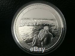 2017 Canada Queen Elizabeth II/ Niagara Falls 50 Dollar 10 oz Silver