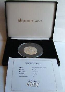 2017 Queen Elizabeth II Birthday Solid Silver Proof Piedfort Commtive MINT 199