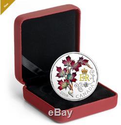 2018 $20 0.9999 FINE SILVER COIN QUEEN ELIZABETH II's MAPLE LEAVES BROOCH 164626