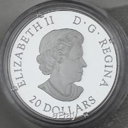 2018 $20 Her Majesty Queen Elizabeth II's Maple Leaves Brooch Pure Silver Proof