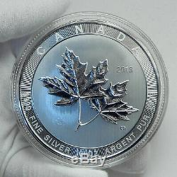 2018 CANADA Large 10 OZ Queen Elizabeth II Silver Maple Leaves $50 Coin i78502