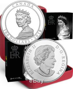 2018 Princess Portrait1951 $100 10OZ Silver Proof Coin Canada Queen Elizabeth II