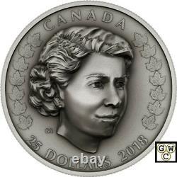2018'The New Queen-Her Majesty Queen Elizabeth II' $25 Fine Silver Coin(18592)
