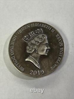 2019 Biblical Series The Crowned Virgin Queen Elizabeth II 2oz. 999 Silver