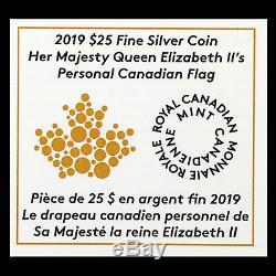 2019 RCM Silver Queen Elizabeth II's Personal Canadian Flag SKU#195440