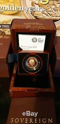 2019 Sovereign GB THE ROYAL MINT Gold Proof Coin Box / Cert Queen Elizabeth II
