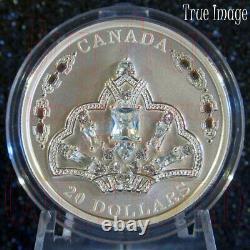 2020 HM Queen Elizabeth's Brazilian Aquamarine Tiara $20 Silver Coin withSwarovski