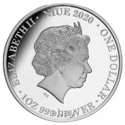 2020 Niue $1 Queen Elizabeth II Long May She Reign 1 Oz Proof Silver