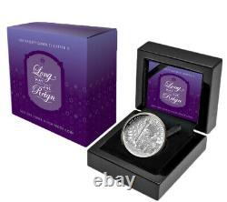 2020 Niue Queen Elizabeth II Long May She Reign 1 oz Silver Proof $1 Coin GEM