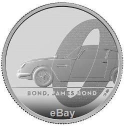 2020 QUEEN ELIZABETH II'BOND, JAMES BOND' 999 2oz SILVER PROOF COIN