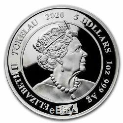 2020 Tokelau 1 oz Proof Silver Royal Portraits Queen Elizabeth II SKU#208964