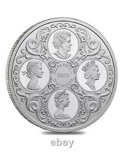 2021 Canada 1 oz Queen Elizabeth II Lover's Knot Tiara Silver Coin SHIP TODAY