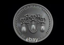 2021 Canada 1oz Pure Silver Coin Her Majesty Queen Elizabeths Lover's Knot Tiara