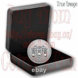 2021 HM Queen Elizabeth's Lover's Knot Tiara $20 Pure Silver Coin with Swarovski