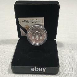 2021 HM Queen Elizabeths Lover's Knot Tiara Silver Coin Swarovski crystals