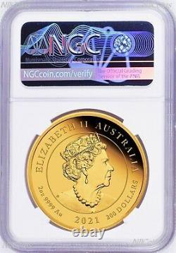 2021 QUEEN ELIZABETH 95th Birthday Silver+GOLD 3-Coin Set $1/$25/$200 NGC PF70