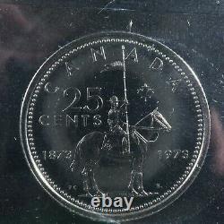 25 cents 1973 Large Bust Canada ICCS SP-66 Queen Elizabeth II silver c ¢ quarter