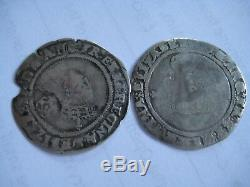 2 Queen Elizabeth I Hammered Silver Groats 1565 & 1568
