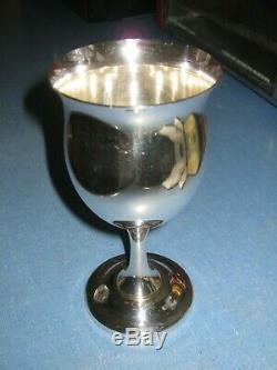 2 Reed & Barton Sterling 6 1/4 Wine Water Goblets H120 Queen Elizabeth