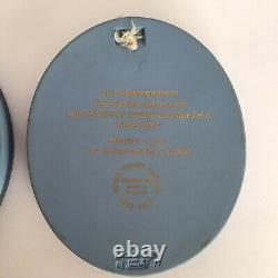 2 Wedgwood Tricolour Silver Jubilee Ltd Ed Prince Philip Queen Elizabeth Plaques