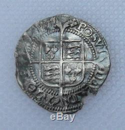 2nd Issue Queen Elizabeth I Hammered Half Groat Mint Mark Cross Crosslet