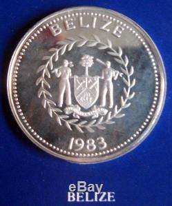 30th ANNIVERSARY OF QUEEN ELIZABETH II CORONATION. SILVER CROWN COINS SET + COA