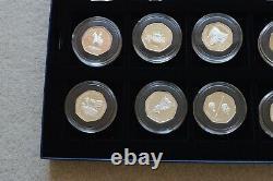 50p Silver Proof Queen Elizabeth II 50th Coronation 12 Coin Collection COA