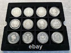 51 Royal Mint Silver Coins HM Queen Elizabeth The Queen Mother Proof Set & Boxes