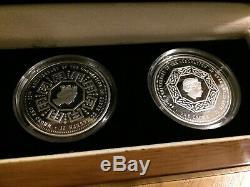 60th Anniversary Coronation of Queen Elizabeth 11 Pure Silver Crown Coin Set COA