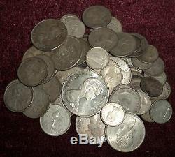 62 QUEEN ELIZABETH II CANADA. 800 SILVER $14 F. V. DIMES $1, 325 Gms. TW
