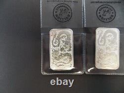 6- 2020 Queen Elizabeth II Australia 1 oz. 9999 Silver Bar 1 Dollar Coin Dragon