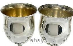 6 Reed & Barton Sterling Silver Water Goblets in Queen Elizabeth Tulip #H120