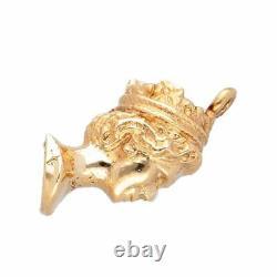9Carat Solid Gold Queen Elizabeth Silver Jubilee Bust Charm (7x15mm)