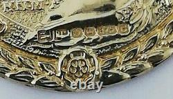 9ct Gold pendant commemorating the silver jubilee of Queen Elizabeth II, 7.4g