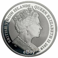 A BRITISH VIRGIN ISLANDS SILVER COIN, 14KT GOLD PENDANT FEATURING QUEEN ELIZABEth