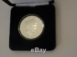 A Queen Elizabeth Sapphire Jubilee 2017 Sterling Silver Proof Coin Five Pounds