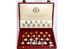 A set of Queen Elizabeth II Royal Silver Jubilee spoons, Sheffield 1977